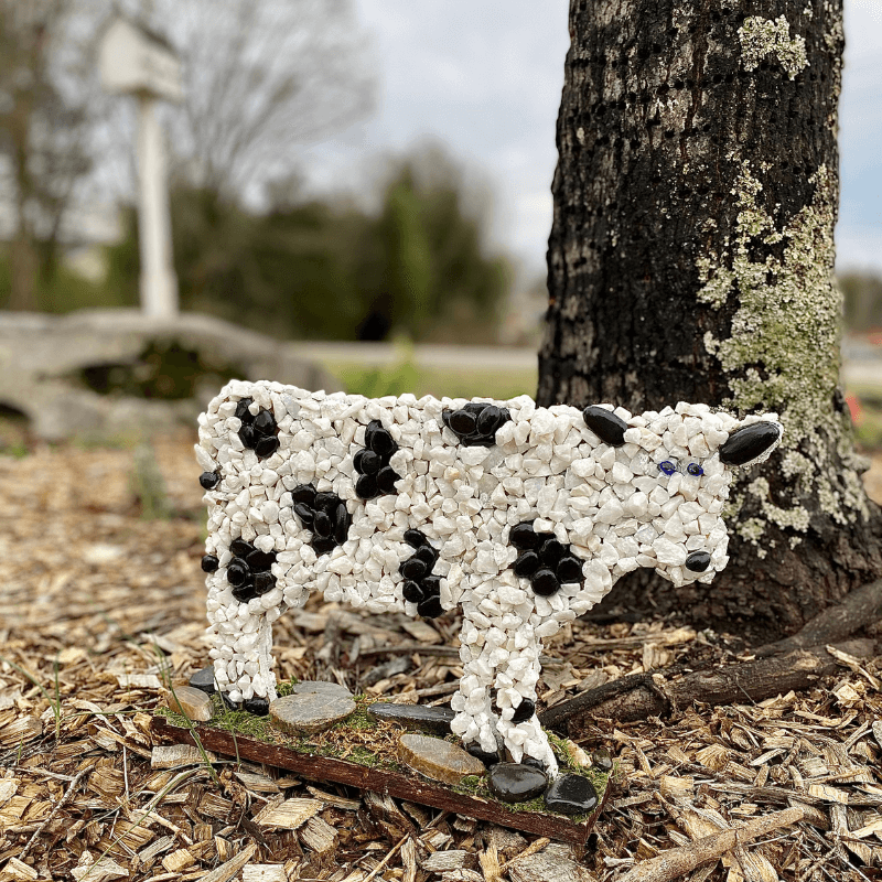 Mosaic Cow created by Penny James